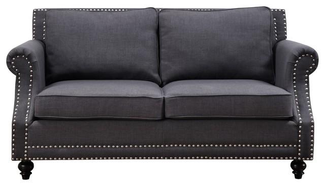 Camden Gray Linen Sofa.