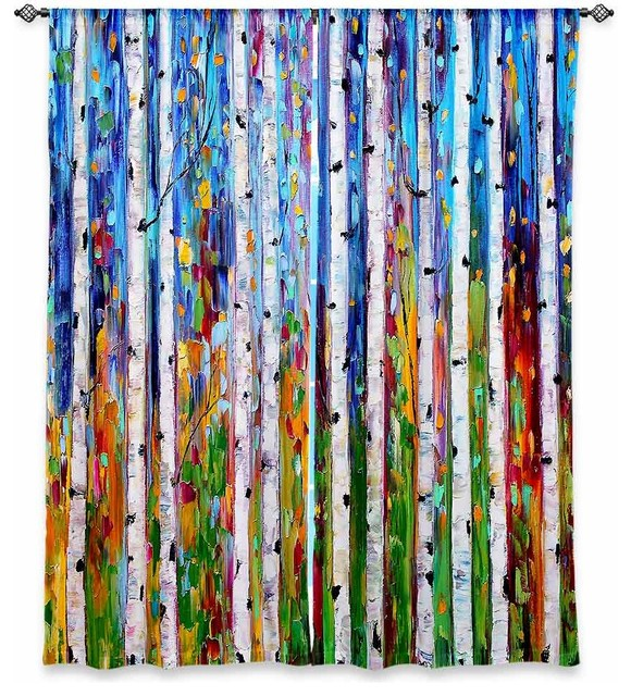 Curtains Ideas birch tree curtains : DiaNoche Designs DiaNoche Unlined Window Curtains by Karen Tarlton ...