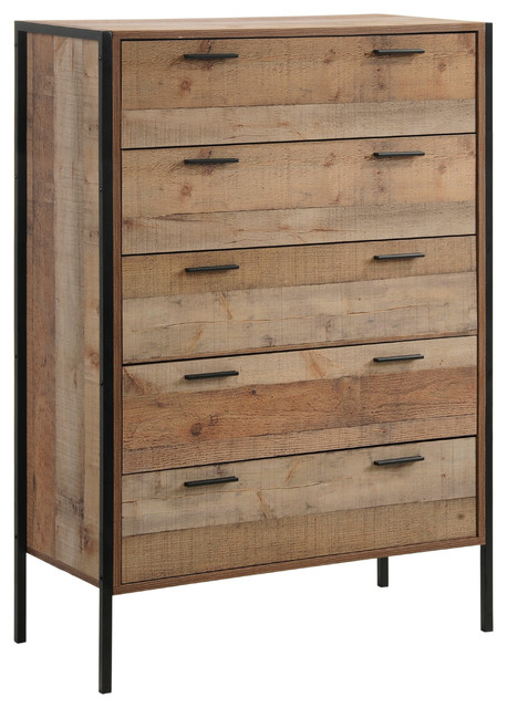Dakota Rustic 5-Drawer Chest.