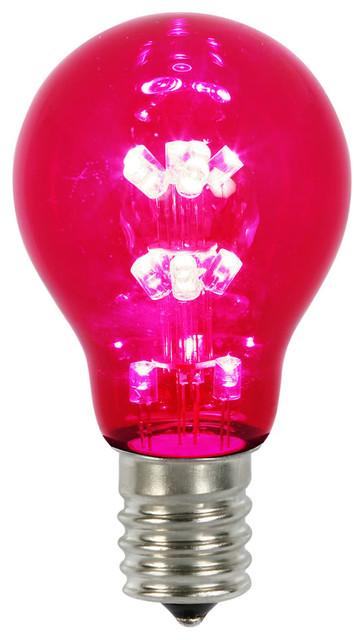 A19 Led Transparent Bulb E26 Neck Base, Red.