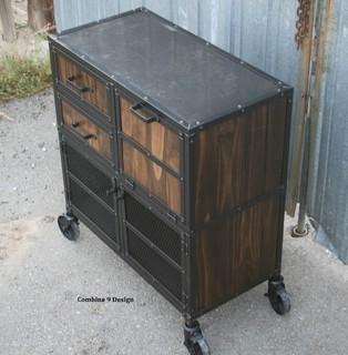 Vintage Industrial Liquor Cabinet/Cart. Bar Cart, Modern ...