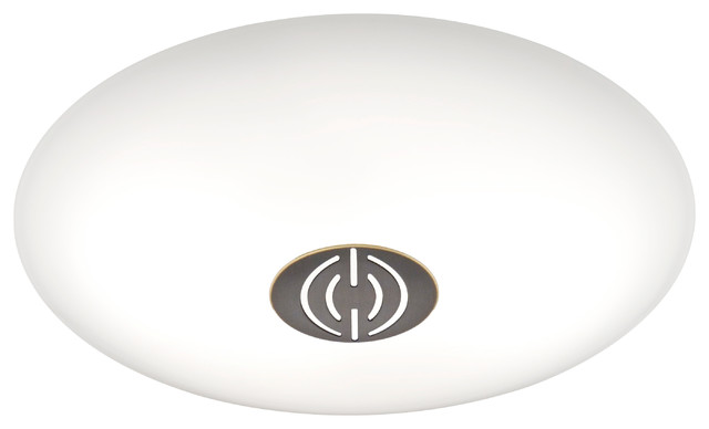 Small Led Ceiling Fixture, Hand-Brushed Old Bronze Dekor Trim, Satin White Glass.