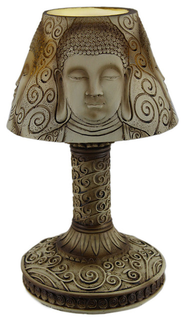 10 Battery Operated Buddha Shade Led Accent Lamp