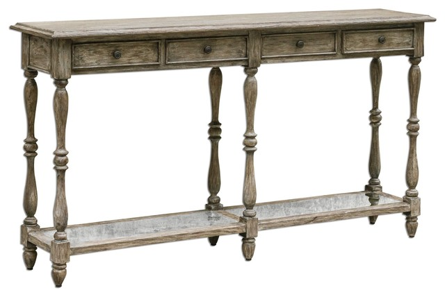 Fortuo Weathered Console Table.