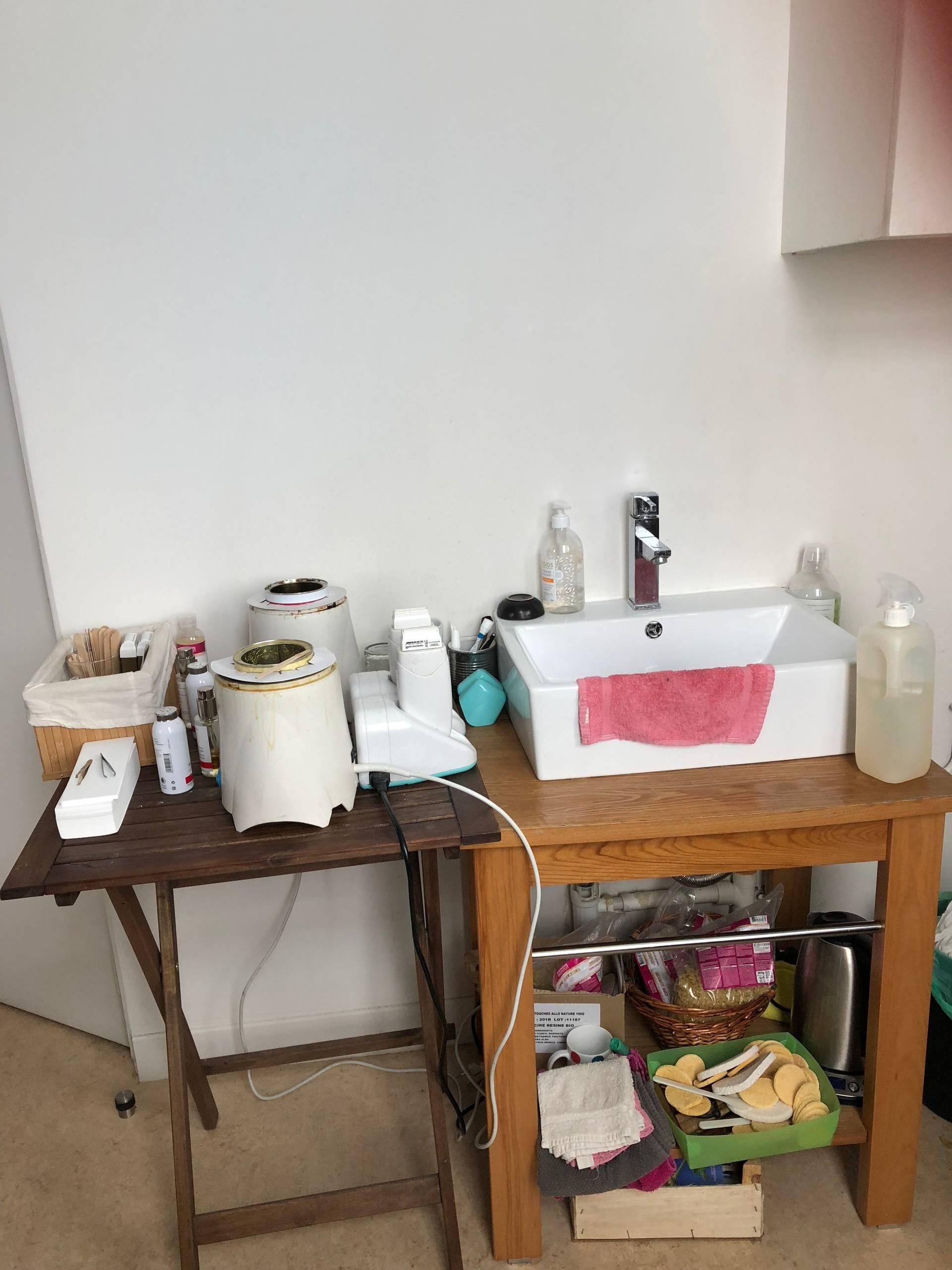L'espace hygiène avant