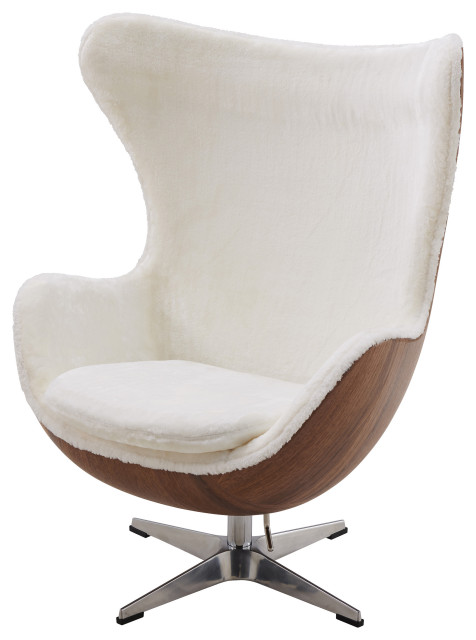 Axis Faux Fur Swivel Rocker Chair