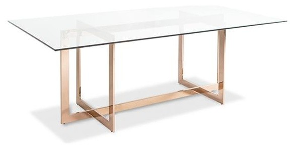 Carmelina Dining Table Rose Gold Contemporary Dining Tables