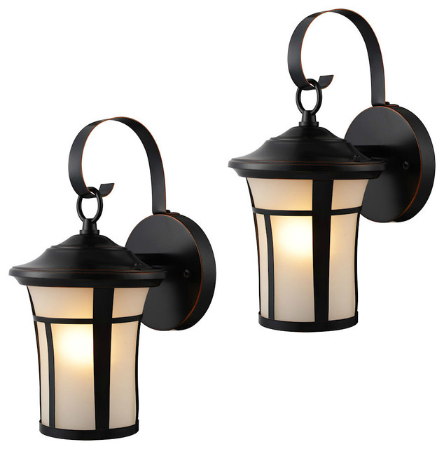 Outdoor Light Fixtures, Set of 2, Oil Rubbed Bronze - Traditional ...