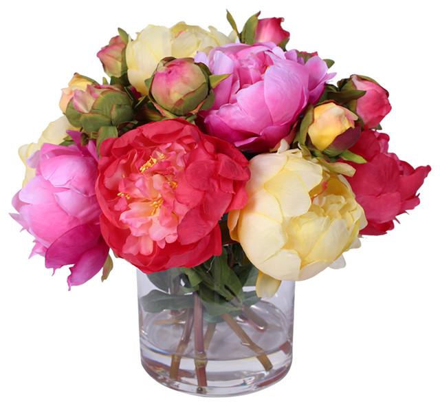 Bellamy silk peonies bouquet traditional artificial flower bellamy silk peonies bouquet mightylinksfo