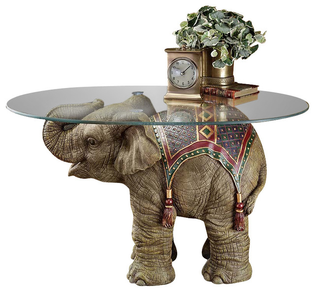 jaipur elephant festival table - asian - side tables and end
