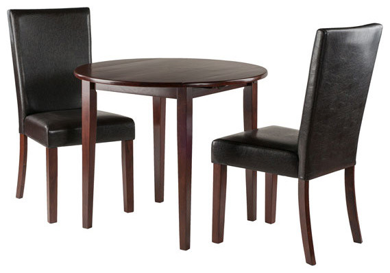 Winsome Clayton 3-Piece Set Drop Leaf Table With 2 Chairs.