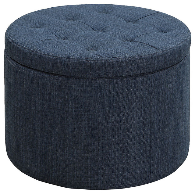 Round Shoe Ottoman Contemporary Footstools And