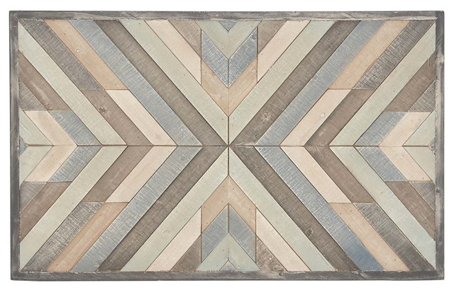 Rustic Wood Framed Chevron Wall Art.
