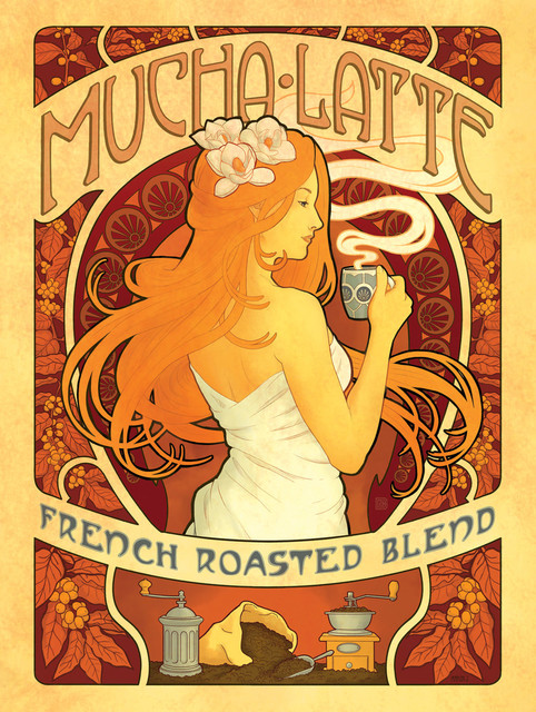 Quot Mucha Latte Quot Gallery Print Prints And Posters By