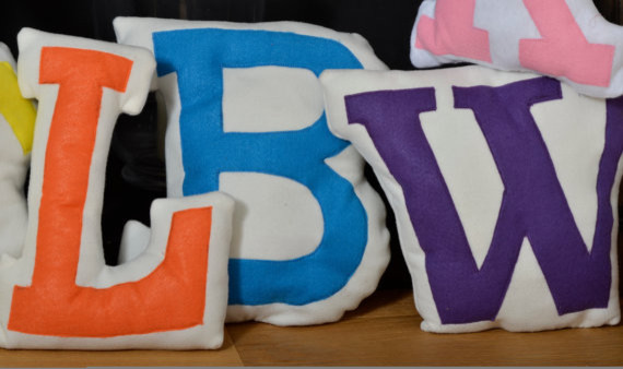 Personalized Pillow, Initial by Love Lime Kids - Modern - Scatter Cushions - by Etsy