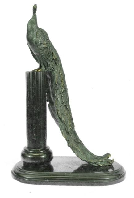 Bronze Figurines For Sale original milo peacock artwork animal exotic bird bronze sculpture