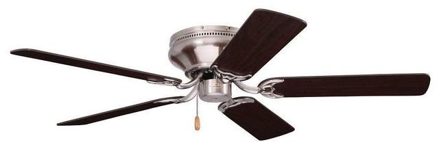 """Emerson Cf804sbs Snugger 42"""" Ceiling Fan In Brushed Steel."""