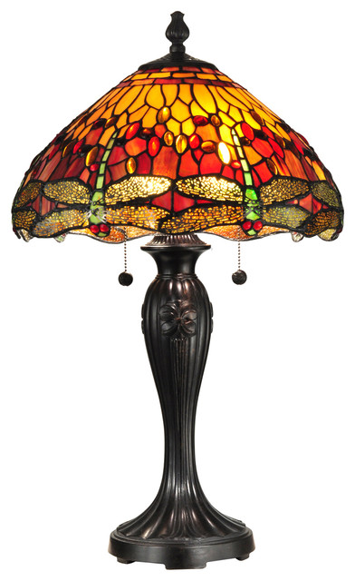 Dale Tiffany Reves Dragonfly Table Lamp.