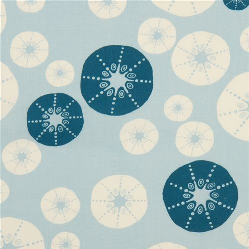 light blue maritime birch shell organic fabric Urchin Shell