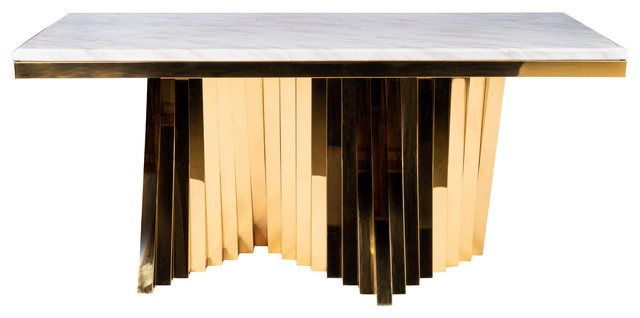 Waterfall Marble Top Dining Table Contemporary Dining Tables By Statements By J