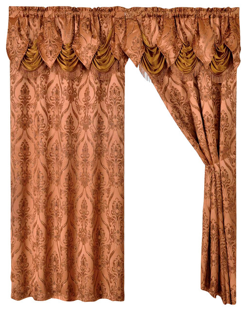 Curtains Ideas brown valance curtains : Luxury Home Textiles 2 Penelopie Curtain Panels With Attached ...