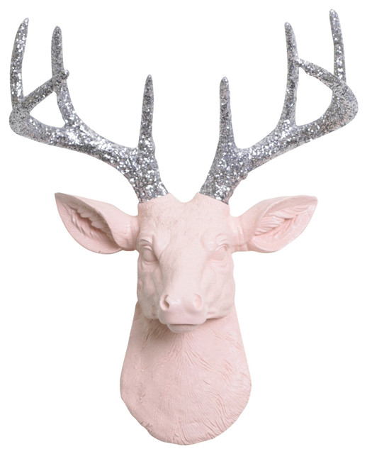 Mini Faux Deer Head Wall Mount.