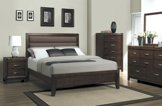The lorraine bedroom set transitional bedroom miami by el dorado furniture for Transitional bedroom furniture