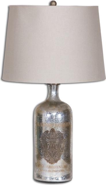 Uttermost Borel Antique Glass Table Lamp.
