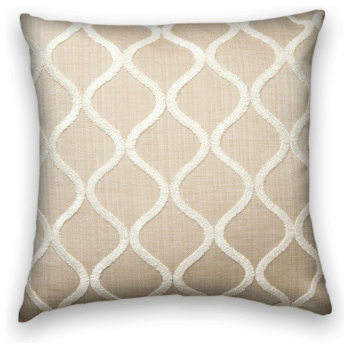 Throw Pillows Beige Couch : Beige With Cream Chenille Throw - Traditional - Decorative Pillows - by Cody & Cooper Designs