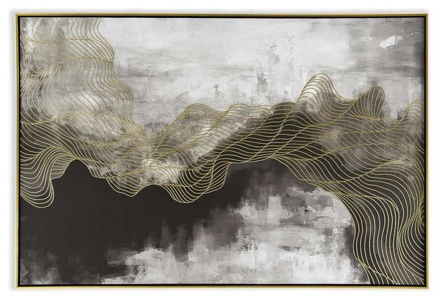 Golden Path Canvas Art.
