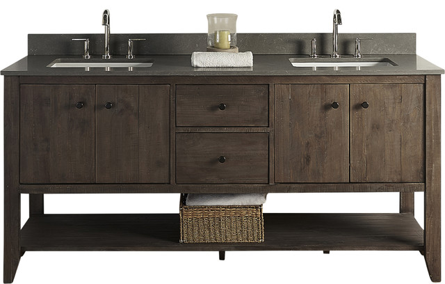 Fairmont Designs River View 72 Double Vanity Coffee Bean Base Cabinet Only Transitional Bathroom Vanities And Sink Consoles By Luxx Kitchen And Bath Houzz