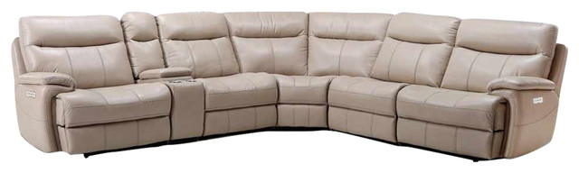 Parker Living, Dylan Creme Power Reclining Sectional, 6 Piece Set