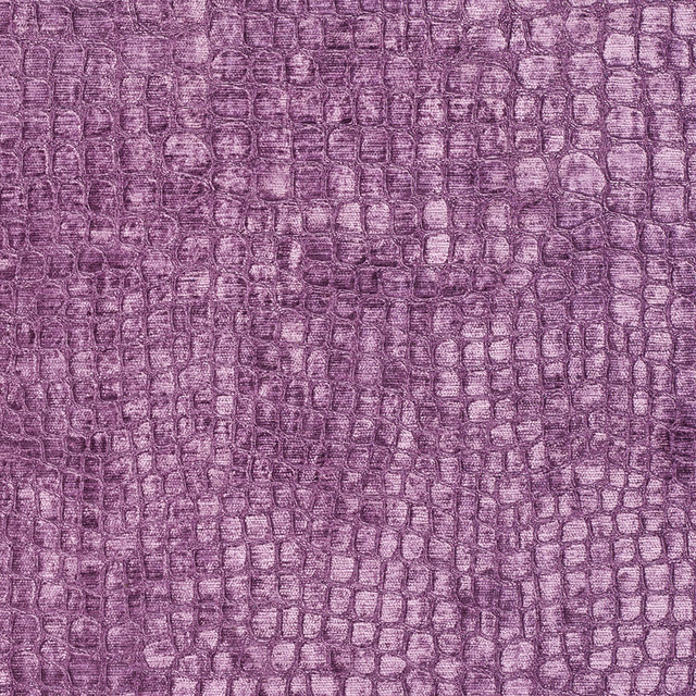 Purple Alligator Print Shiny Woven Velvet Upholstery