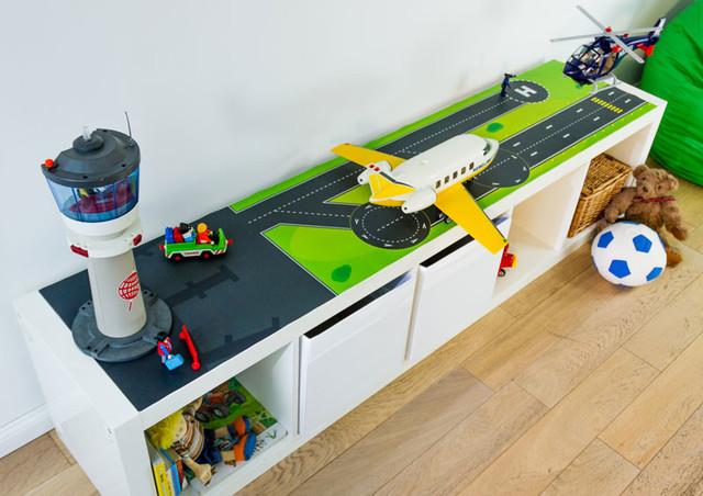 Kinderzimmer ikea trofast  Spieltisch Sticker statt Spielteppich selber bauen IKEA KALLAX ...