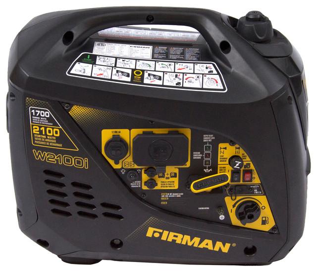 Firman Power Equipment W01781 Gas Powered 1700/2100 Watt Portable Inverter.