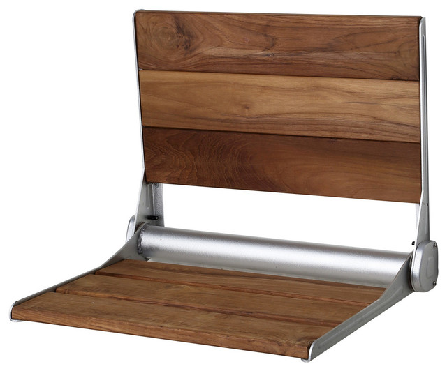 ANZZI Saxon Wall Mounted Shower Seat - Transitional - Shower Benches ...