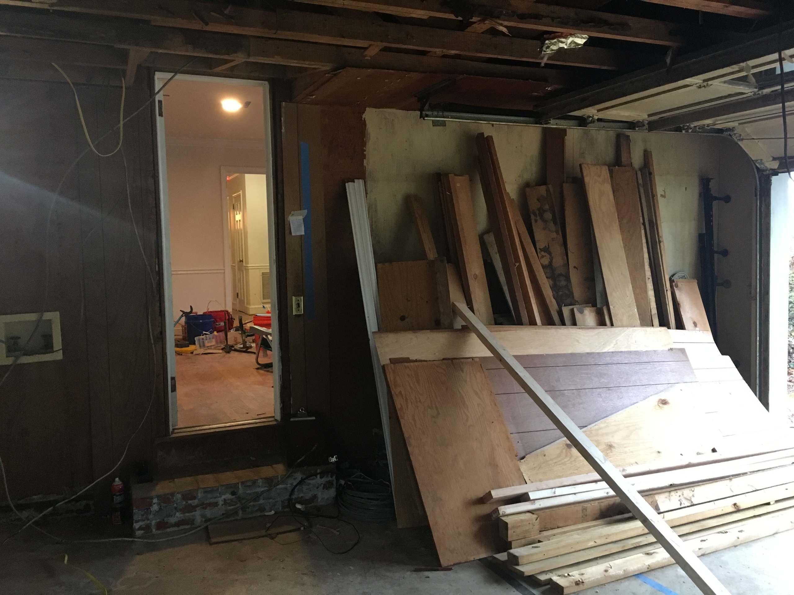 Original garage Before