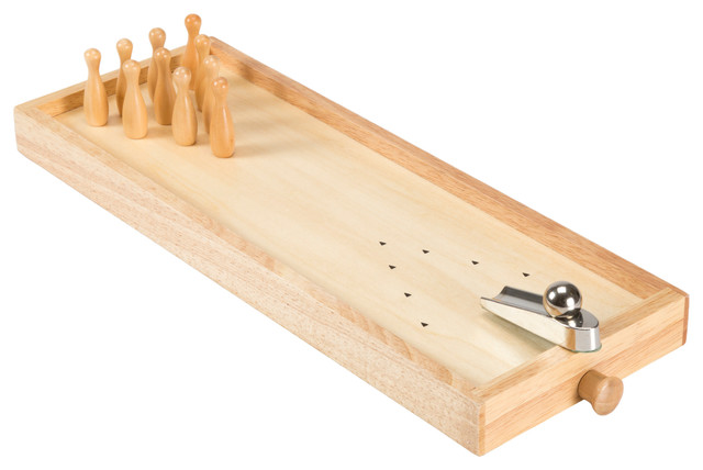 Tabletop Wooden Bowling Game By Hey Play Traditional