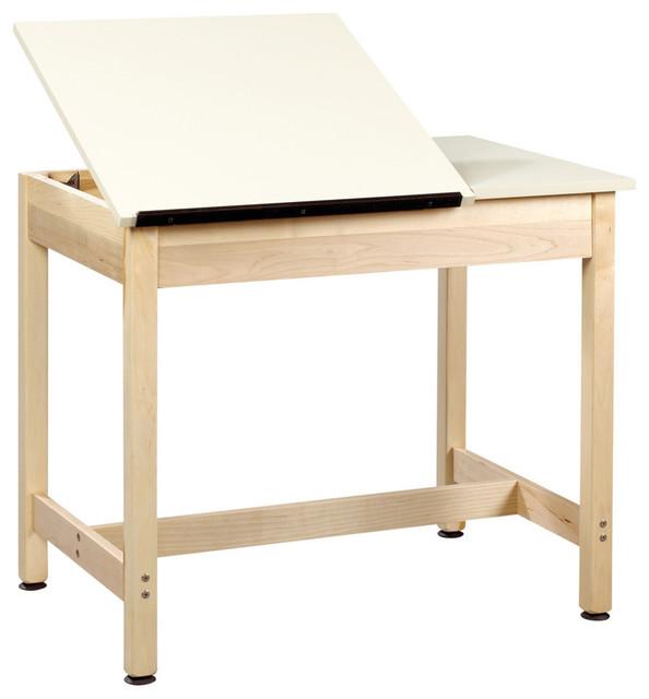 "Diversifiedwoodcrafts Art/drawing Table, 36""x24""x30"" 2-Piece Top 30"" Plain."