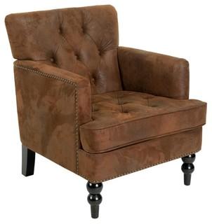 Madene Club Chair, Brown