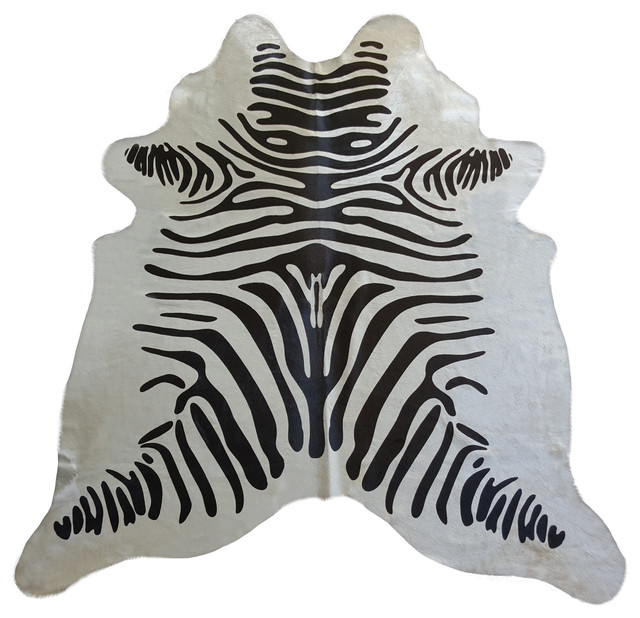 Zebra Stripes Brazilian Cowhide Rug