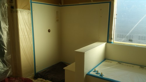 before pictures of a #cultured #Marble #shower unit in Birch Granite ...