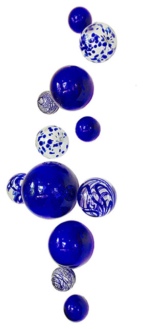Wall Spheres, Cobalt, 12-Piece Set.
