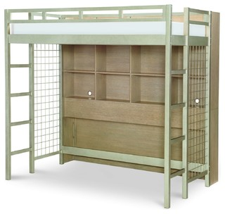 Rachael Ray Home Hudson Metal Loft Bed With Bookcase