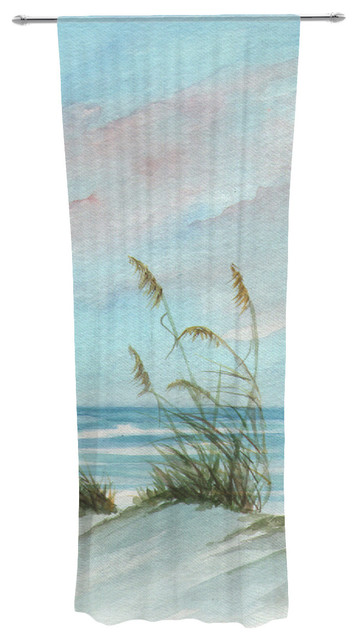 Rosie Brown Sea Oats Decorative Sheer Curtain.