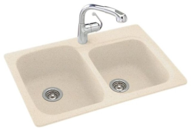Swan 33x22x9 Solid Surface Kitchen Sink 1 Hole Kitchen