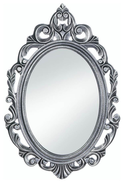 Silver Royal Crown Wall Mirror. -1