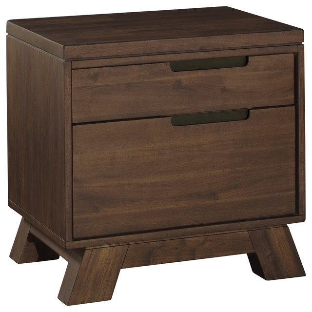 Portland Solid Wood Nightstand Rustic Nightstands And Bedside Tables