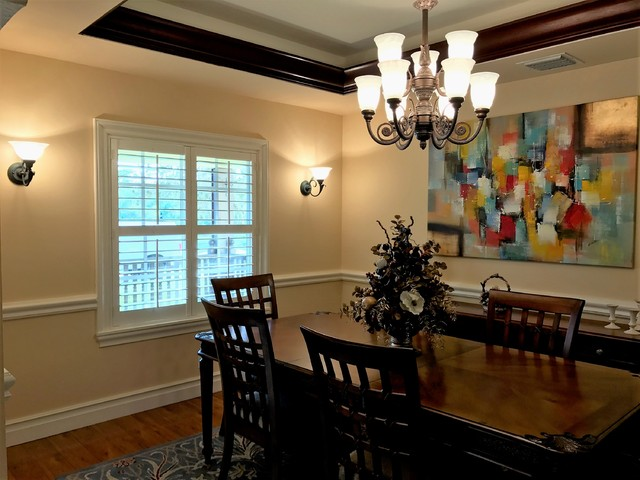 Plantation shutters of florida your window treatments for Modern dining room window treatments
