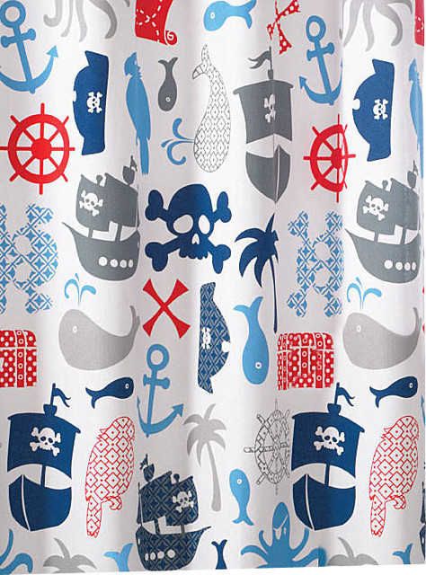 Bambi Pirate Shower Curtain Shower Curtains